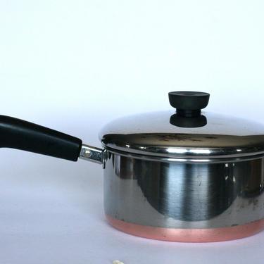 vintage revere ware 2 quart saucepan copper clad bottom made in clinton illinois by suesuegonzalas