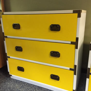 3 drawer campaign dresser by AgentUpcycle