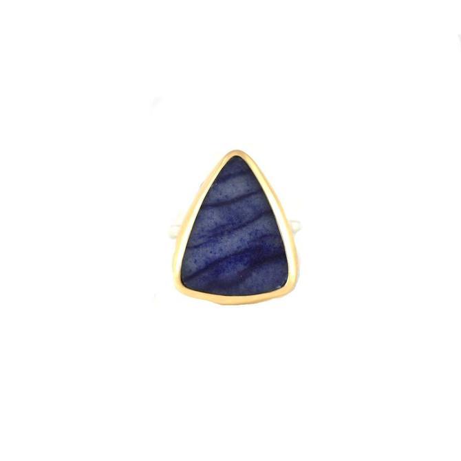 Triangular Dumortierite Ring