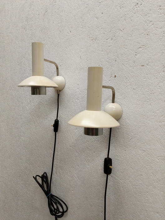 Pair of Vintage Danish Modern Louis Poulsen Wall Lamps by FarOutFindsNYC