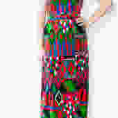 Printed Velvet Maxi dres by PFVintage