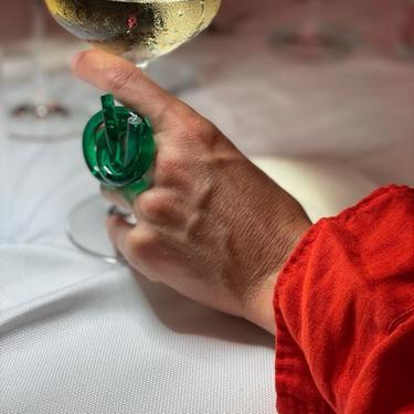 PORTOFINO Ring, Acrylic Ring, Acrylic Knot Ring, Statement Ring, Emerald Ring, Contemporary Ring, Green Ring, Green Acrylic Ring, Art ring by CHOFA