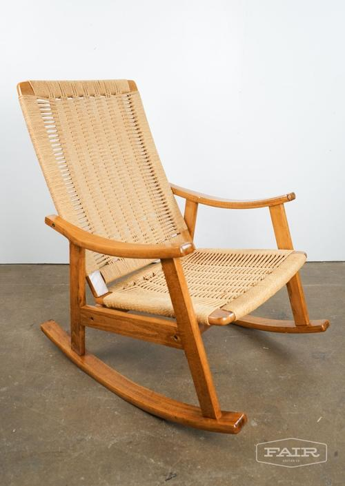 Woven Rope and Teak Rocker