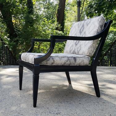 Vintage Modernist Regency Ebonized Lounge Chair