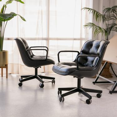 Leather Charles Pollock Knoll Office Chair