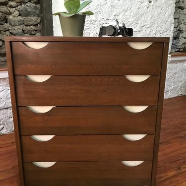 mid century dresser danish modern bachelors chest mid century tall dresser by VintaDelphia