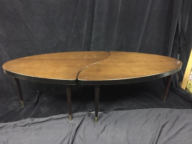 Mid Century Oval Jig saw puzzle coffee table