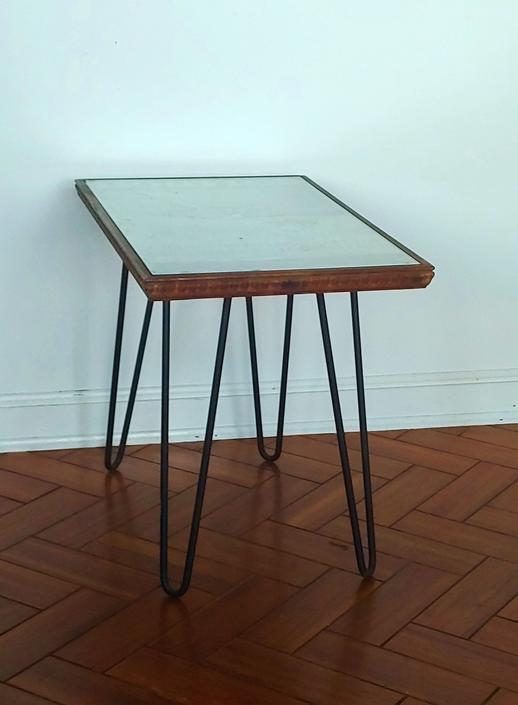 1965 Metropolitan Opera Carmen Printing Plate Side Table w Hairpin Legs by ModandOzzie