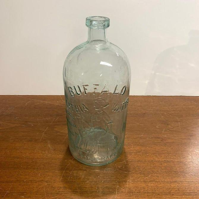 Vintage Buffalo Lithia Water Bottle Natures Materia Medica by OverTheYearsFinds