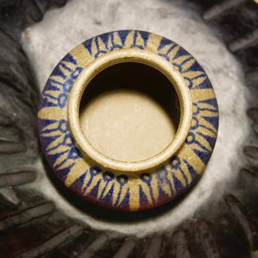 Rare Thomas Toft Mid Century Modern Art Pottery Vase, Vintage Danish Denmark Scandinavian Studio Pottery, Soft Blue & Gray Ceramic Pot by shopGoodsVintage