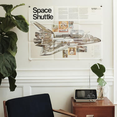 1978 Nasa Space Shuttle Poster by MicroscopeTelescope