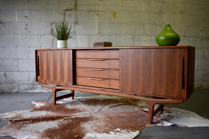 EXTRA LONG Mid Century Modern styled CREDENZA media stand by CIRCA60