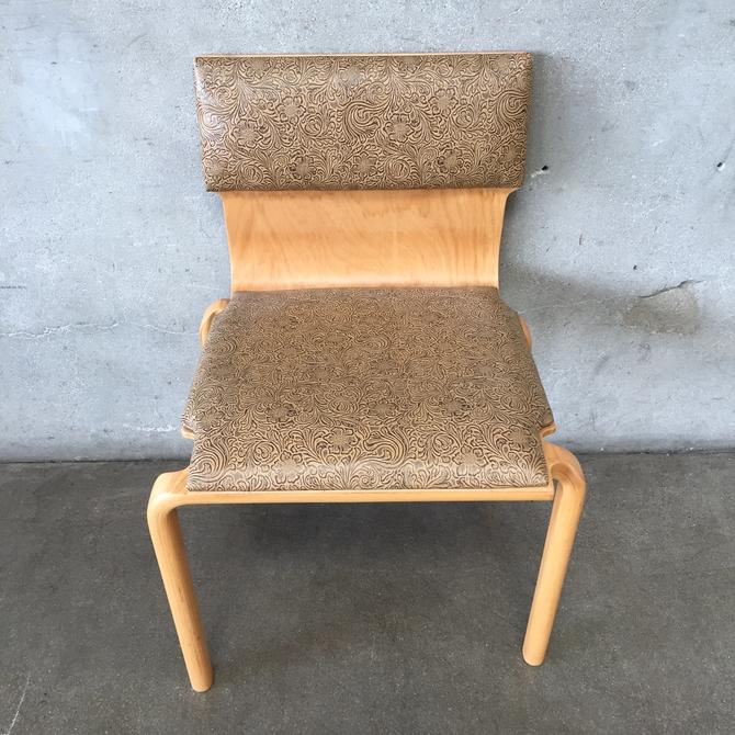 Mid Century Sanders Bentwood Stacking Chair