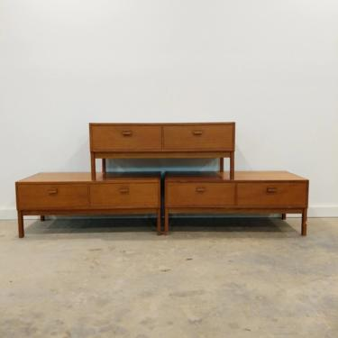 3 Vintage Danish Modern Teak Low Chests by FarOutFindsNY