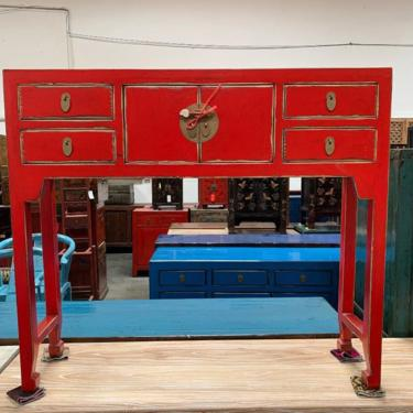 CHINESE Console Table in Lacquered Red #LosAngeles by HouseCandyLA
