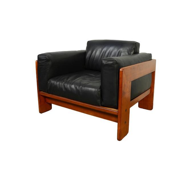 Scarpa Black Leather Chair Gavina Bastiano Italian leather mid century modern by HearthsideHome