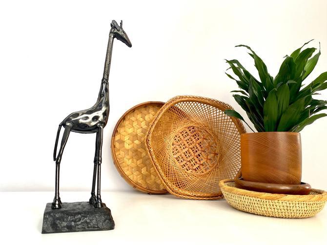 Vintage Hand Forged Steel Giraffe Sculpture by TheBrassFig