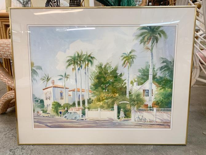 Palm Beach Scene by Norman Scofield
