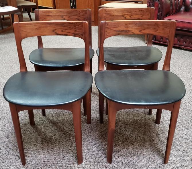 Item #M11B Set of Four Mid Century Modern Rosewood Dining Chairs c.1960