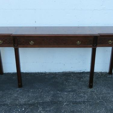 Hollywood Regency Carved Library Console Long Table by Century 2436