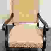 Item #LR2 Edwardian Mahogany Arm Chair c.1910