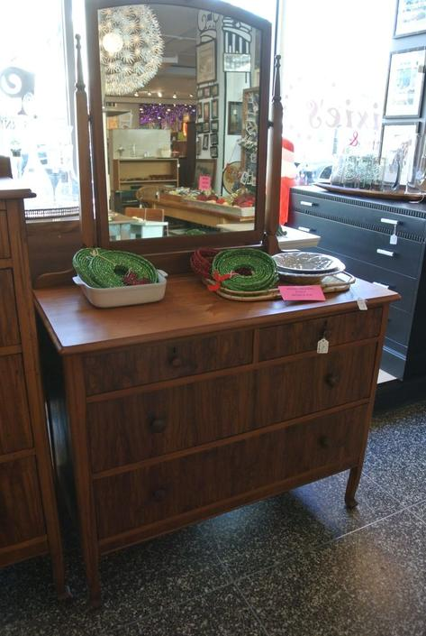1920s Chest of Drawers with Mirror. $295