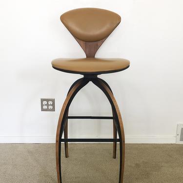 vintage mid century Plycraft Cherner bar stool swivel seating chair by TripodModern