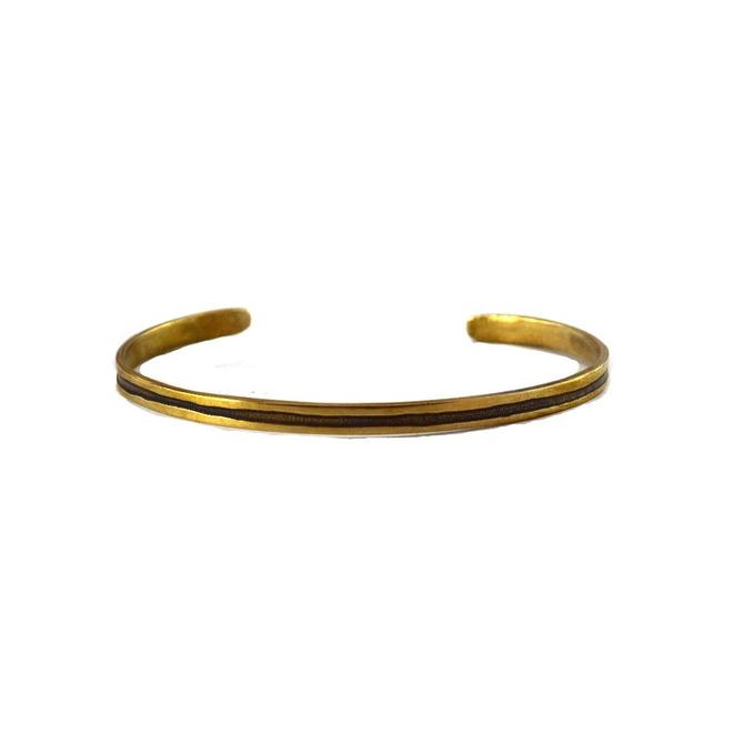 Line Cuff - Brass