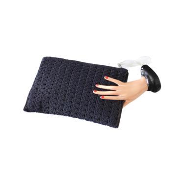 1940s Navy Blue Corde Purse - 1940s Blue Clutch - 1940s Crocheted Handbag - 1940s Corde Bag - 1940s Envelope Clutch - 40s Crocheted Purse by VeraciousVintageCo