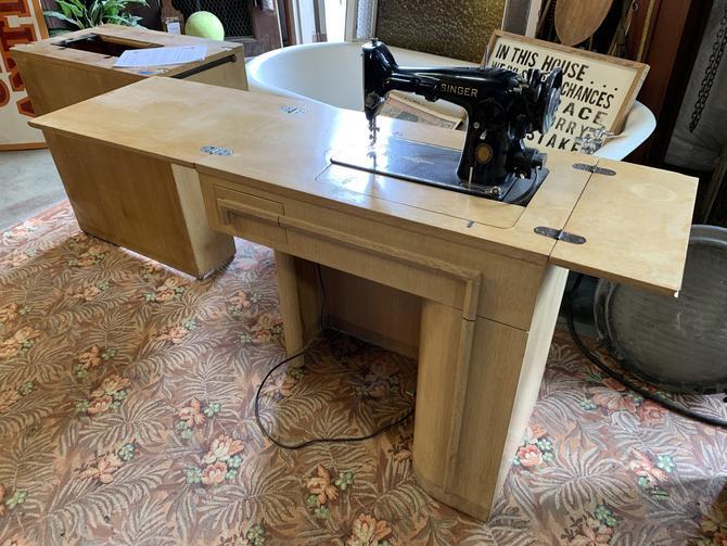 Mid century singer sewing machine desk