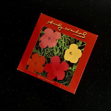 Vintage ANDY WARHOL Flowers 1968 Art Puzzle 550 Pieces 20in X 20in In Original Box Never Opened 1998 by modern2120