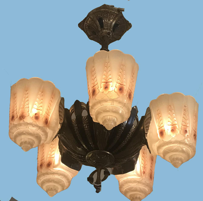 Original Lincoln Two-In-One Deco Fixture