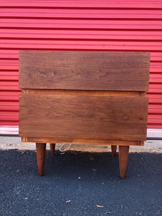 Mid Century Two Drawer Nightstand by Martinsville