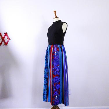 1960's Groovy Print Maxi Dress / Vintage 60's Hippie Maxi Dress by blackwellhabitat