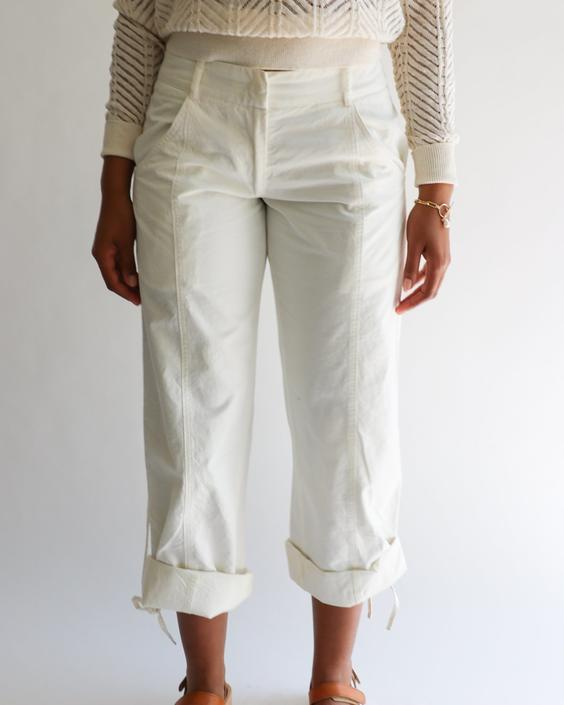Costume National Cotton Trousers, Size 42