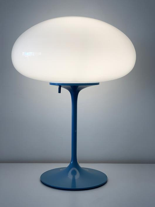 1960s Blue Bill Curry for designLine Mushroom Table Lamp