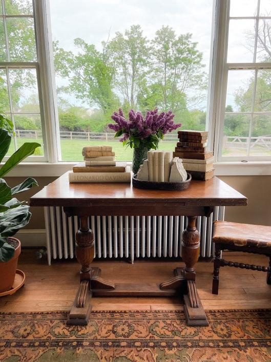 Antique Tiger Oak Table