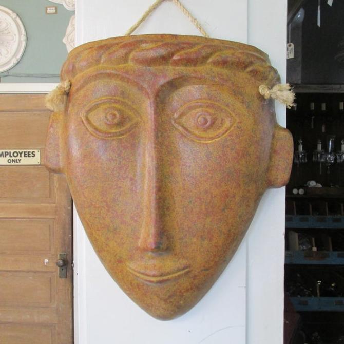 Large Terra Cotta Decorative Face Mask