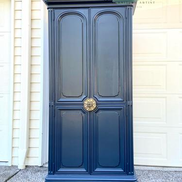 Modern and elegant wooden refinished armoire / wardrobe/ chest of drawers / dresser by RelovedFurnitureStor