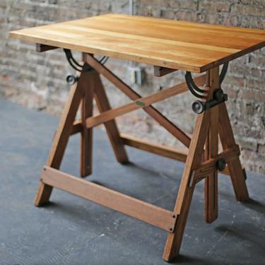 """restored vintage industrial drafting table, """"POPULAR DRAWING TABLE"""" by Keuffel & Esser Co. by jeglova"""