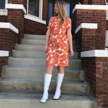 1960's Marigold Daisy Dress by KittenSurprise