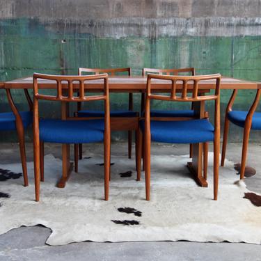 Gangsø Møbler Danish Mid Century Modern Dining Table Teak w/ botanical Floral ceramic tile inlay. Gorgeous Piece! MCM Scandinavian by CatchMyDriftVintage