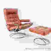 Vintage Stressless chair with ottoman
