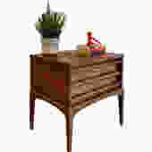 Mid Century MODERN Walnut NIGHTSTANDS / end table by LANE Rhythm by CIRCA60