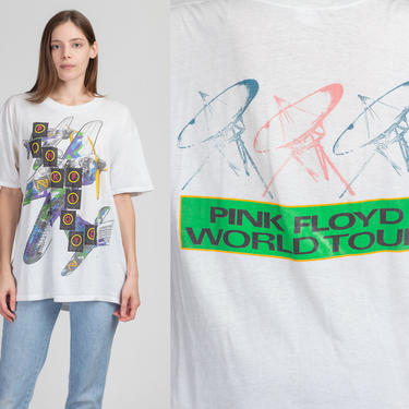 Vintage 1987 Pink Floyd World Tour T Shirt - Extra Large | Rare 80s Momentary Lapse Of Reason Graphic Music Tee by FlyingAppleVintage