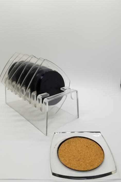 Mod Lucite Coaster set