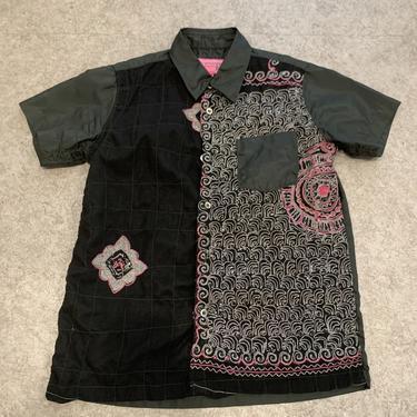 Junya Watanabe PINK Sequins Button Up