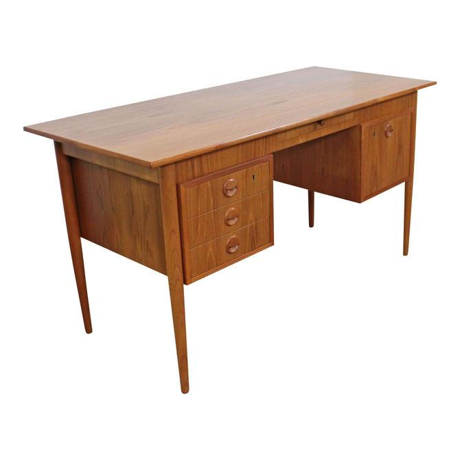 Mid-Century Danish Modern J Svenstrup AP Mobler Teak Executive Desk by AnnexMarketplace