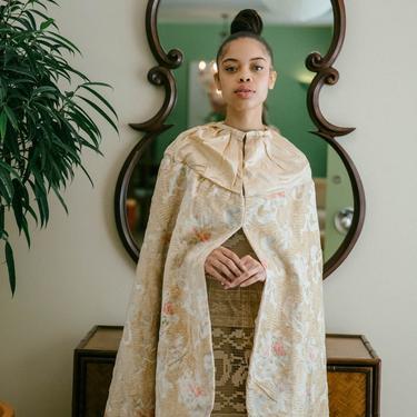 Rare 1920s French silk velvet Parisian made silk devorè velvet cocoon flapper cape by DevoreVintage