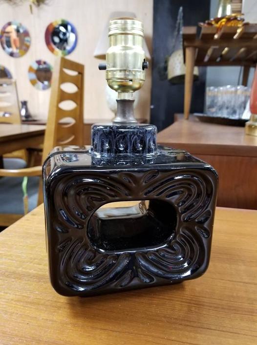 Mid-Century small ceramic vanity lamp